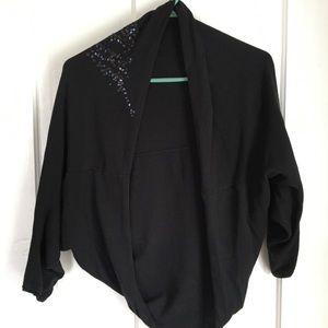 Cute black bolero jacket with sequins